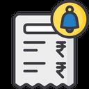 Bill Notification Bill Payment Notification Notification Icon
