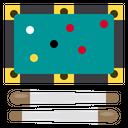 Billiard Player Entertainment Icon