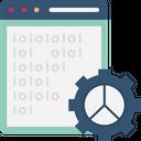 Binary Coding Data Processing Html Development Icon