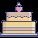 Birthday Cake Cake Candles Icon
