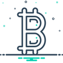 Bitcoin Btc Coin Icon