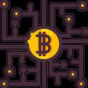 Bitcoin Electronics Market Icon