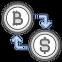 Bitcoin Conversion Dollar Icon