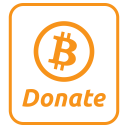 Donate Payment Bitcoin Icon