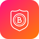 Bitcoin Shield Security Icon