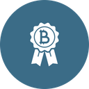 Bitcoin badge Icon