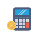 Calculation Bitcoin Accounting Icon