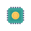 Bitcoin Cpu Cryptocurrency Icon