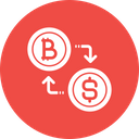 Bitcoin conversion Icon