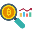 Bitcoin Data Analytics Blockchain Analytics Blockchain Data Analysis Icon