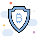 Secure Data Data Protection Bitcoin Safety Icon