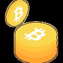 Bitcoin stack Icon