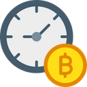 Bitcoin Time Value Value Of Bitcoin Value Of Time Icon