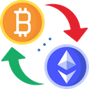 Bitcoin To Etherium Conversion Icon