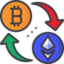 Bitcoin To Etherium Exchange Currency Exchange Cryptocurrency Icon