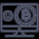 Bitcoin transfer Icon
