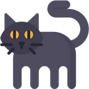 Black Cat Spooky Scary Icon