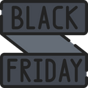 Black Friday Banner Sales Cyber Monday Icon
