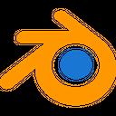 Blender Technology Logo Social Media Logo Icon