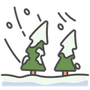 Winter Pine Blizzard Icon