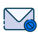 Block Message Block Email Block Mail Icon