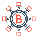 Blockchain Technology Bitcoin Icon