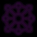 Blockchain Distribution Icon