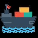 Boat Logistic Transportation Icon