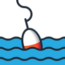 Bobber Fishing Floating Icon