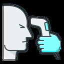 Body Temperature Check Scan Icon