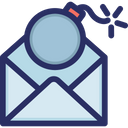 Bomb Email Spam Icon