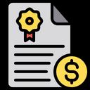 Bond Certificate Fixed Deposit Icon