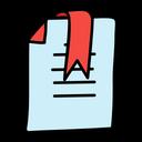 Bookmark Favorite Paper Paper Format Icon