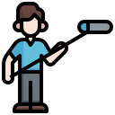Boom Operator Professions And Jobs Electronics Icon