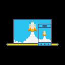 Boost Marketing Rocket Icon