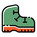 Boot Footwear Camping Icon