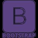 Bootstrap Plain Wordmark Icon