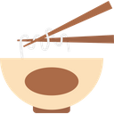 Bowl Chinese Food Chopsticks Icon