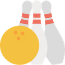 Alley Pins Bowling Ball Bowling Game Icon