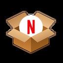 Netflix Isometric Box Icon