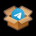 Telegram Isometric Box Icon