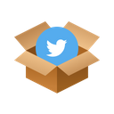 Twitter Isometric Box Icon