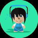 Boy Cartoon Character Icon