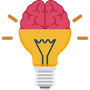 Brain Bulb Creativity Icon