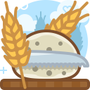 Bread Cutting Food Icon