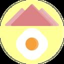 Breakfast Egg Plate Icon