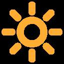 Bright Button Sun Icon