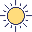 Bright Day Morning Sun Icon