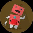 Broken Robot Mascot Icon