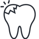 Broken Teeth Pain Icon